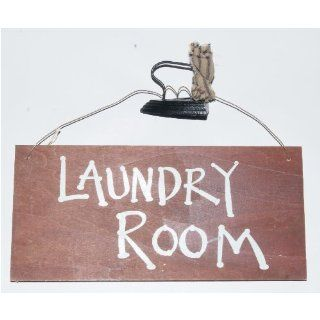 Laundry Room   Ironing Bored Fun Reversible Wood Sign with