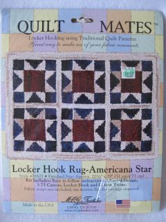 NEW Locker Hook Rug AMERICANA STAR Pattern Kit by Quilt Mates