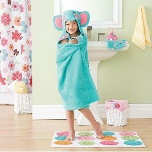 New Blue Elephant Hooded Bath Swim Towel