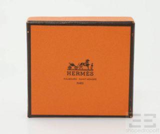 Hermes Tan Leather Gold Plated Jumbo Hook Bracelet