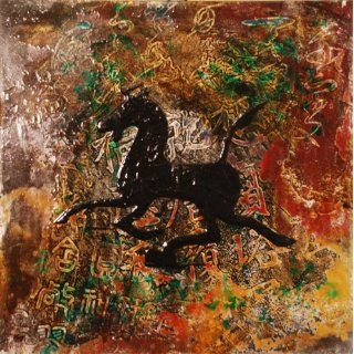 BE8050 Contemporary Chinese Tang Horse Painting