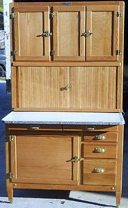 Beautiful Antique Hoosier Highboy Bakers Cabinet Complete Restoration