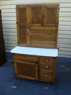 50329 Antique Oak Hoosier Cabinet Cupboard