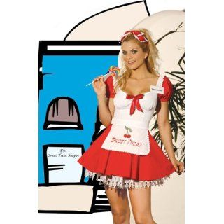 Sweet Treat Girl 5pc. Costume Includes Dress & Apron. Head
