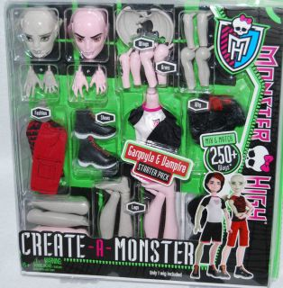 NIB*Monster High Create a Monster Doll  Gargoyle and Vampire Boys