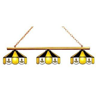 Georgia Tech Pool Table Light   3 Lamps