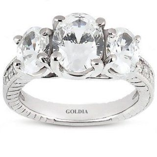 75 Ct. Oval Cut Diamond Engagement Ring Jewelry