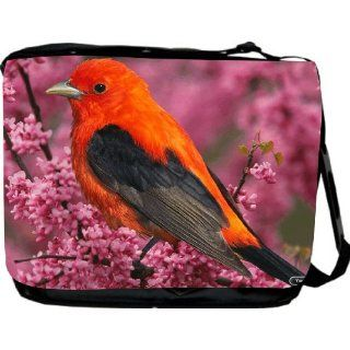 Red Robin Design Messenger Bag   Book Bag   School Bag