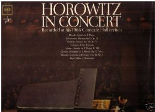 Horowitz in Concert 1966 Carnegie Hall 2LPs