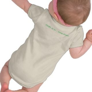 Wear Cloth Diapers   Go Green T Shirt