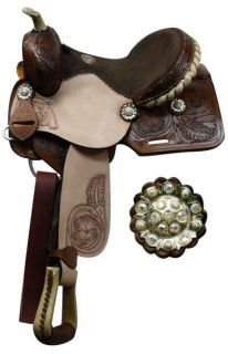 Youth Pleasure Trail Saddle New by TT in Dark Oil Horse Tack 95