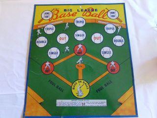 Tin Dual Sided Dart Game Big League Baseball Electro Safe T Dart