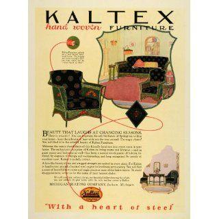 1925 Ad Kaltex Furniture Wicker Michigan Home Decor