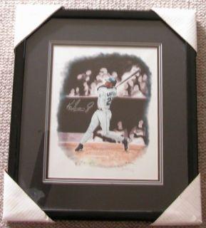 Ken Griffey Jr Autographed 1998 Steve Hoskins Signed Lithograph Framed
