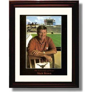 Framed Mack Brown   Texas Longhorns   Autograph Print