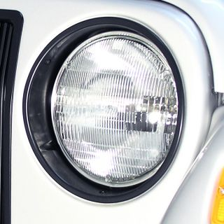 Replacement Headlight Bezels Black 1997 2006 Jeep Wrangler TJ