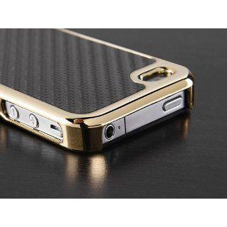Pandamimi Carbon Fiber Style Metal Chrome Side Case Cover