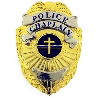 Police Thin Blue Line Chaplain Mini Badge & Case