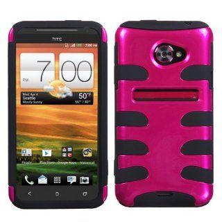 MYBAT Metallic Hot Pink/Black Fishbone Phone Protector