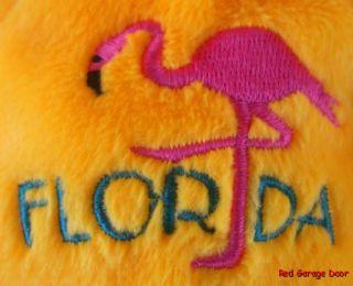 Mary Meyer Florida Bear Orange Flamingo Plush Bean Toy 8 1 2