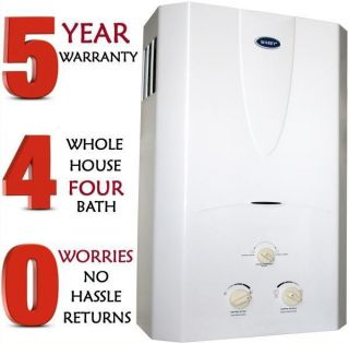Tankless Hot Water Heater Instant on Demand Whole House 4 3 GPM