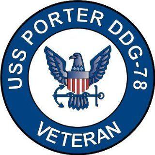 US Navy USS Porter DDG 78 Ship Veteran Decal Sticker 3.8 6 Pack
