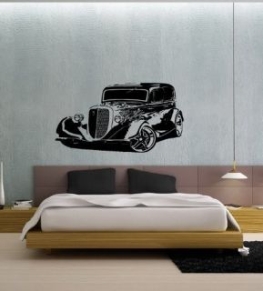Hot Rod Car Wall Art Sticker Decal Mural Vinyl T15
