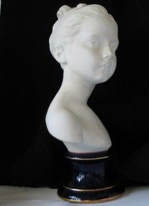 Bust Statue Young Girl J A Houdon by Goumot Labesse Limoges