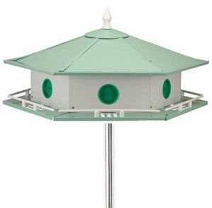 Purple Martin Bird House Pole Kit Aluminum Birdhouse