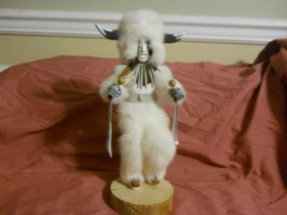 White Buffalo Kachina Doll  Handmade & Handcarved from Hotevilla, AZ
