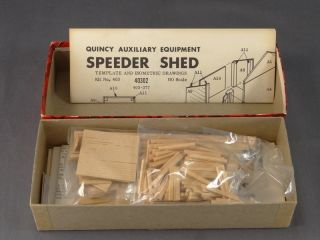 HO SCALE CAMPBELL 403 SPEEDER SHED & ICE HOUSE CRAFTSMAN BUILDING KIT