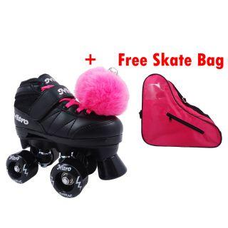 Nitro Pink Plus Kids Beginner Quad Indoor Outdoor Roller Skates