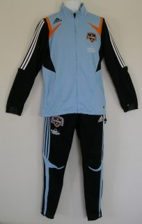 RARE Adidas HOUSTON DYNAMO TRACK SUIT Jacket jersey soccer sweat shirt