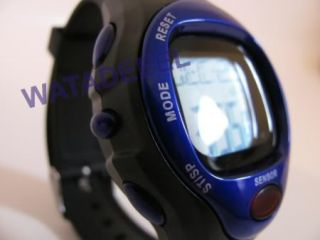 New Pulse Heart Rate Monitor Calories Counter Fitness Watch Blue