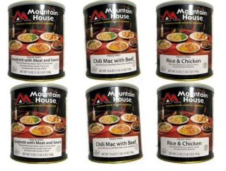 Gallons of Mountain House Freeze Dried Food Entree Variety Case