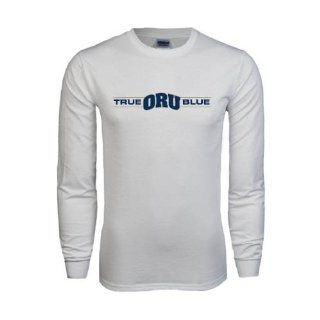 Oral Roberts White Long Sleeve T Shirt, X Large, True ORU