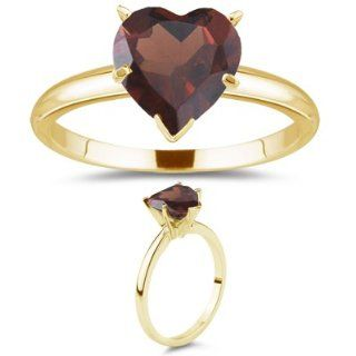87 Cts Garnet Solitaire Ring in 18K Yellow Gold 4.5 Jewelry