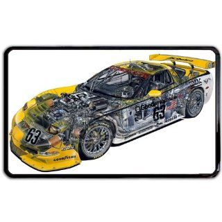 Racecar diagram Kindle Fire snap on Case / Cover for Sides