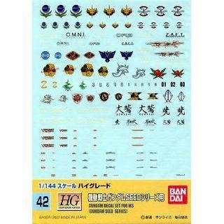 Gundam Decal MS GUNDAM SEED SERIES 1/144 Toys & Games
