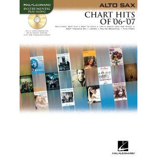 Chart Hits of 06  07 Songbook for Alto Sax   BK+CD
