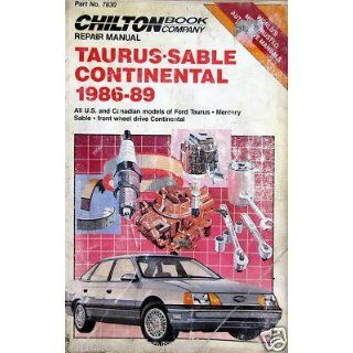 1986 89 Chilton Repair Manual Ford Taurus/Mercury Sable