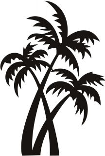 Palm Trees at The Beach Wall Art Sticker Wall Decals Transfers