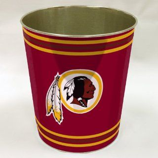 BSS   Washington Redskins NFL Metal Waste Basket