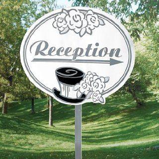 Wedding Reception Yard Sign   Party Decorations & Yard