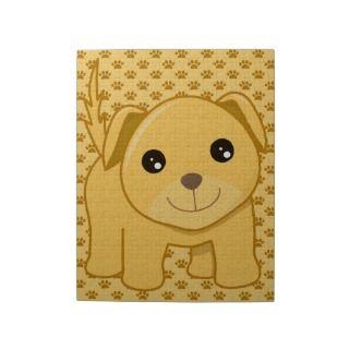 Kawaii Cute Labrador Retriever Puppy Dog Cartoon Jigsaw Puzzle