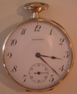 23J Howard Pocket Watch 14K Gold 1919 from Oklahoma City Yards