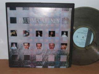 PAUL McCARTNEY WORLD TOUR 3 LPs COLORED VINYL W POSTER TOUR BOOK