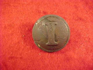 Confederate Block I Infantry Civil War Button  Dug Howlett Line, VA