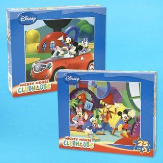 Set of 2 Disney Mickey Mouse Clubhouse 25pc Puzzle   Super