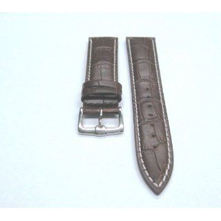 22mm Italian Leather Watch Band Strap for Omega W/S Brown Watches